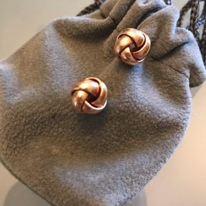 18kt  Rose gold Love knot earrings
